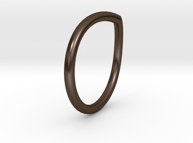 Vring 12 in Polished Bronze Steel