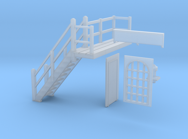 Chirk Signal Cabin Parts 6-10 in Smooth Fine Detail Plastic