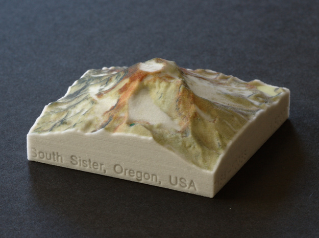 South Sister, Oregon, USA, 1:50000 in Full Color Sandstone