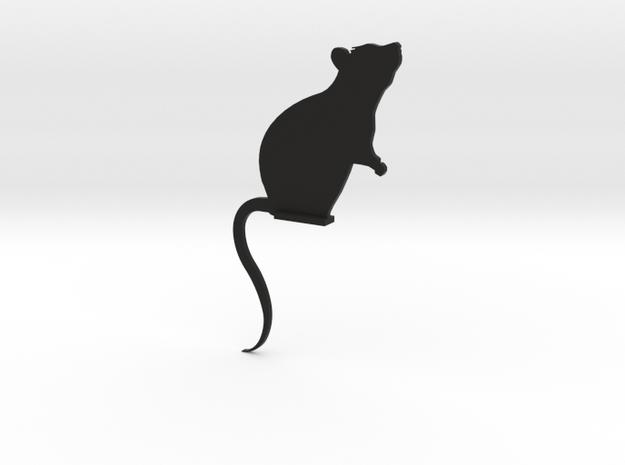 Door Mouse in Black Natural Versatile Plastic