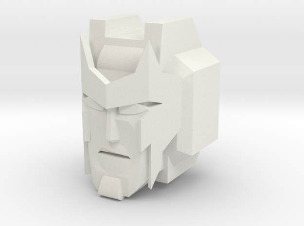 Ambulon Head for CombinerWars in White Strong & Flexible
