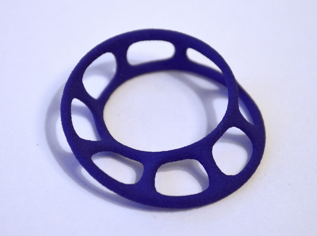 Wired Möbius Strip in Blue Strong & Flexible Polished