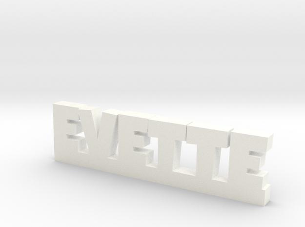 EVETTE Lucky in White Processed Versatile Plastic