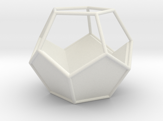 Geometric Terrarium in White Natural Versatile Plastic