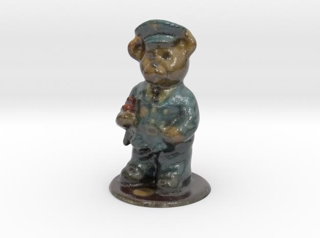 Police Bear in Glossy Full Color Sandstone