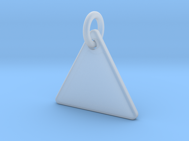 Triangle Nickel Size Pendant