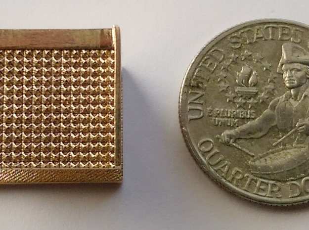 """1"""" scale Boiler Step, Square Pattern in Raw Bronze"""