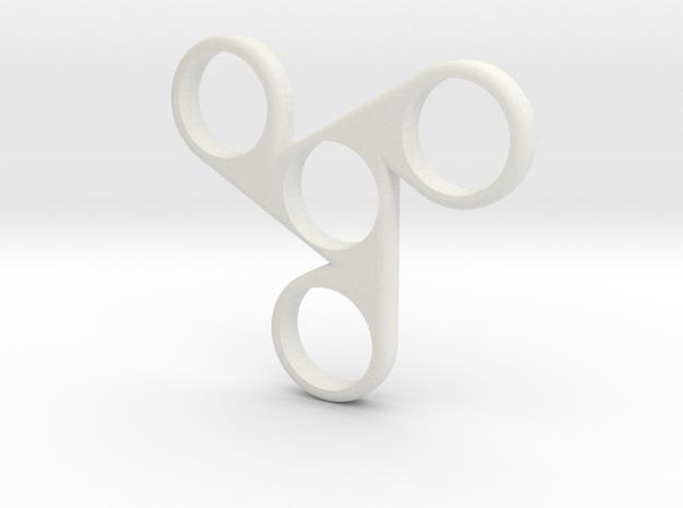Fidget Spinner Housing in White Strong & Flexible