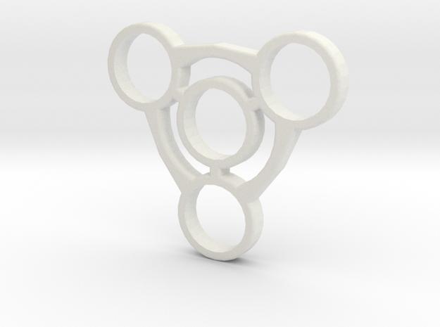 Fidget Spinner No.1  in White Natural Versatile Plastic