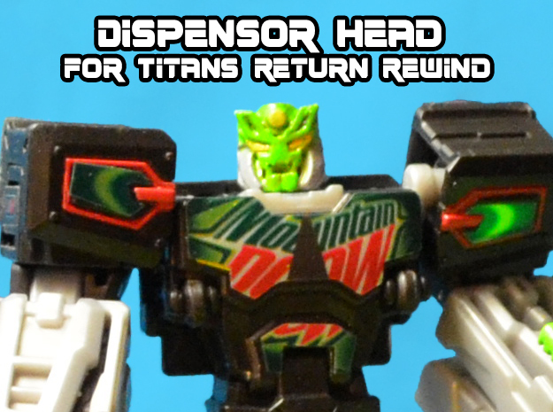 Dewbot/Dispensor Head for Titans Return Rewind in Black Hi-Def Acrylate