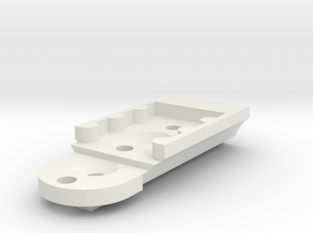 KMD-FR01 T-Plate Holder Long in White Natural Versatile Plastic