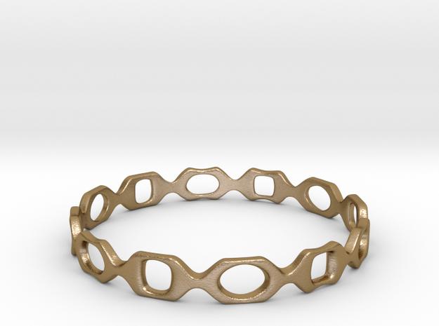 Bracelet D 2 Medium in Polished Gold Steel