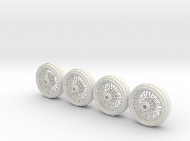 Full set of 1/8 scale Wire Wheels for DB5