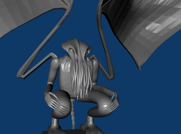 Cthulhu Statue w/ wings v3 3d printed