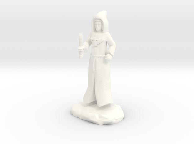Dracandros, a human dragon cultist with Dagger in White Strong & Flexible Polished