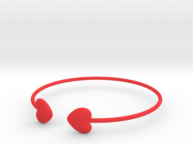 Everything heart bracelet in Red Processed Versatile Plastic