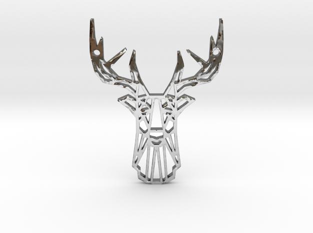 Deer Pendant in Premium Silver