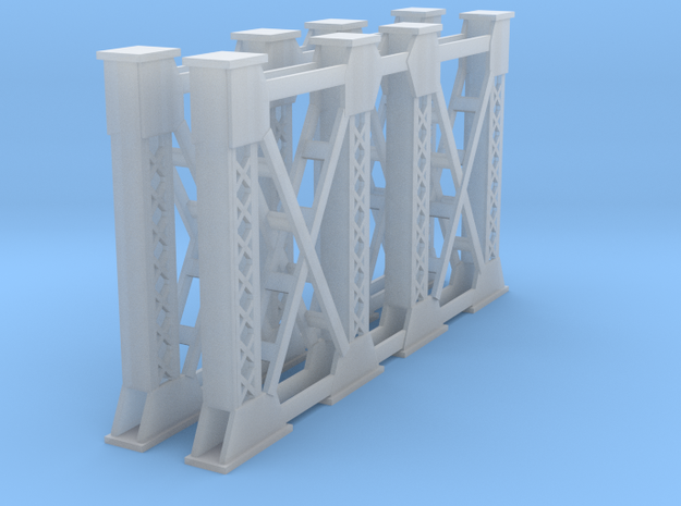 Two Steel Bridge Supports Z Scale in Smooth Fine Detail Plastic