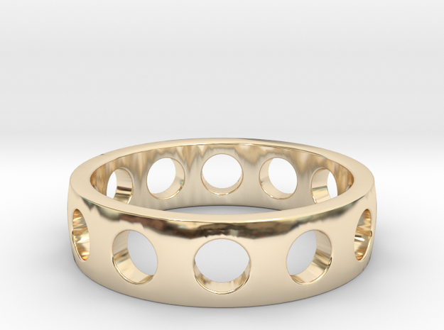 Ring of king in 14k Gold Plated Brass: 6 / 51.5