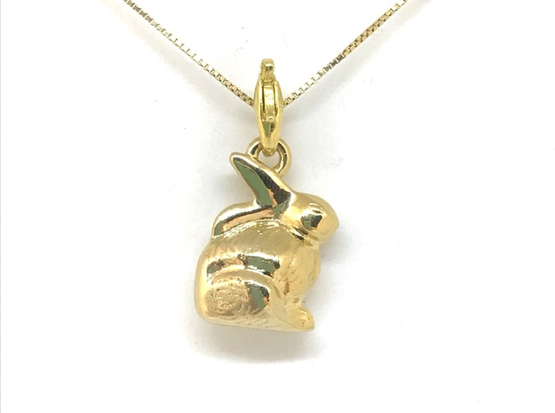 mini chocolate Easter bunny charm in 18k Gold Plated