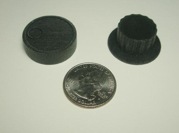 Spinner 1/4 3d printed With a quarter for scale