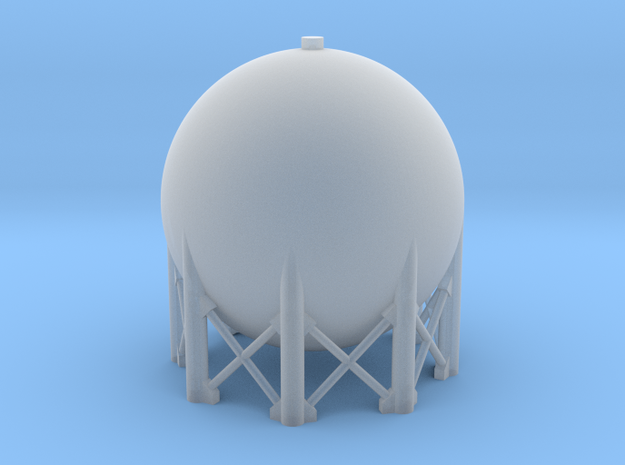 1:285 Spherical Tank in Smooth Fine Detail Plastic