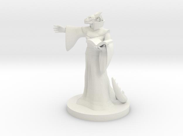 Dragonborn Warlock (female) in White Strong & Flexible