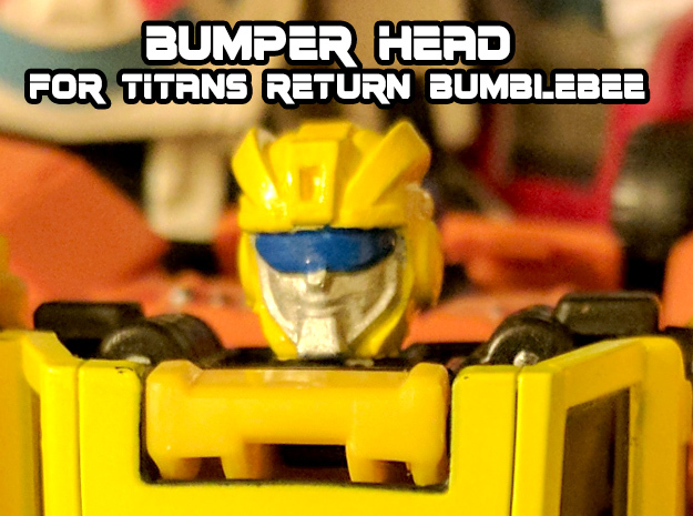 Bumper Head for Titans Returns Bumblebee in Smooth Fine Detail Plastic
