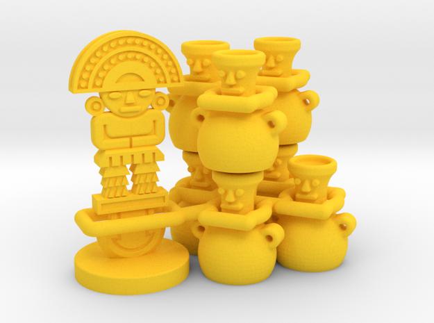 Mayan tech/temple & score tokens (8 pcs)