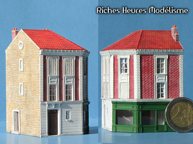 NGG-BVAg01b - Large Railway Station in Smooth Fine Detail Plastic