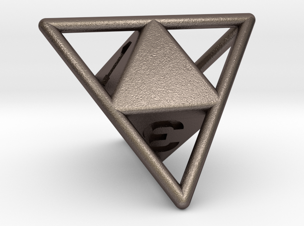 D4 with Octohedron Inside in Stainless Steel