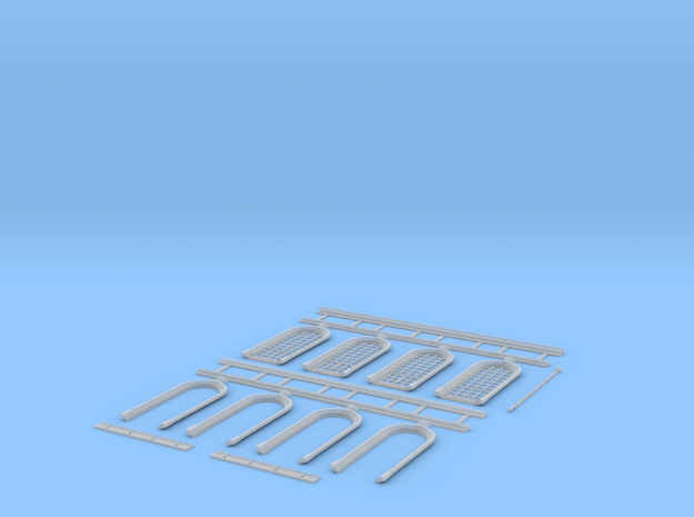 NGG-Mext01b - Large Railway Station in Smooth Fine Detail Plastic
