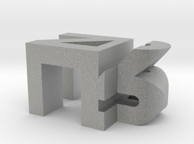 Personalized Initials in Metallic Plastic
