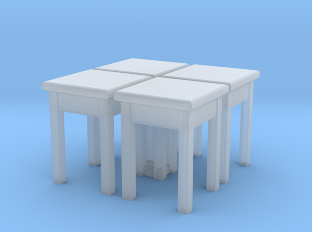 H0 Kitchen Stool 01 4 pcs. 1:87 in Frosted Ultra Detail