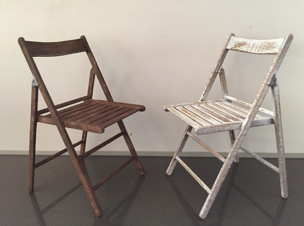 Folding Chair Wood.open in White Strong & Flexible Polished