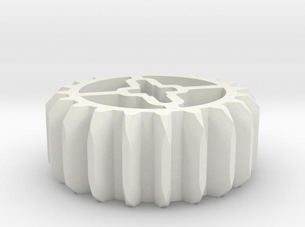 20z 45 Grad in White Natural Versatile Plastic