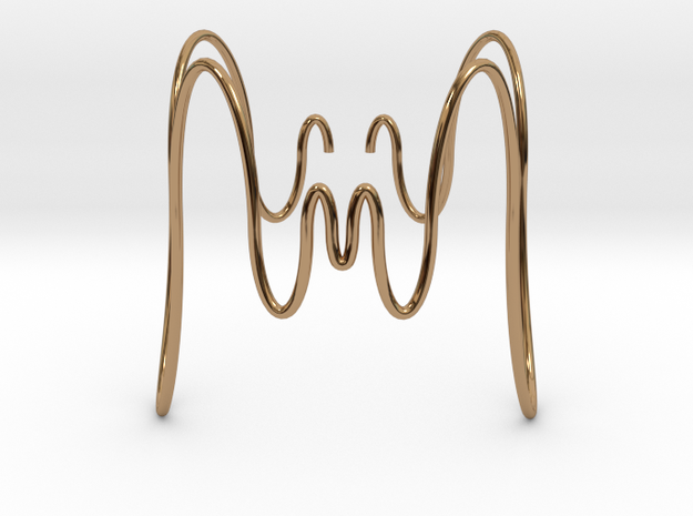 Bracciale Ondulato Medusa in Polished Brass