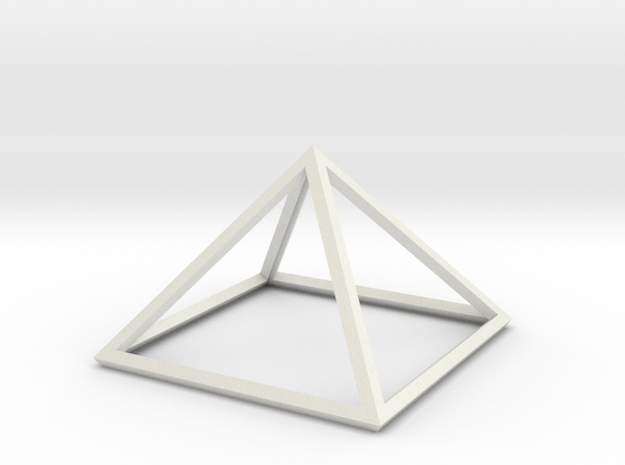 "Perfect Pyramid Open Thick 51°51""14"" in White Natural Versatile Plastic"