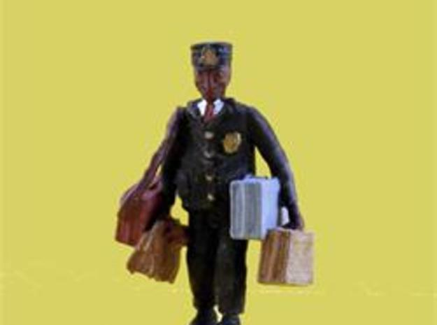 S Railroad PORTER w Luggage Figure in Frosted Ultra Detail