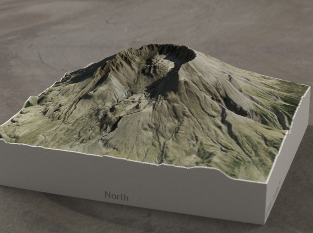 Mt. St. Helens, Wash., USA, 1:50000 Explorer in Full Color Sandstone