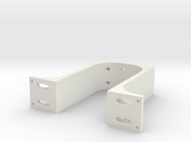 Arm Mount Offcentered Longer in White Natural Versatile Plastic