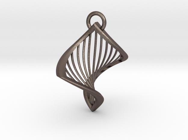 Hadie Harp Pendant in Stainless Steel