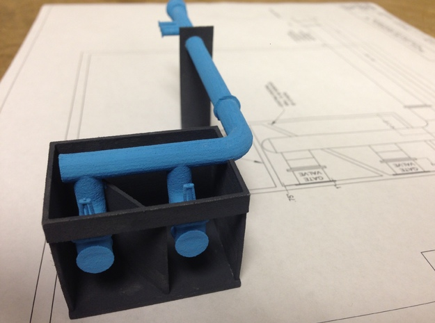 Well Pump Station 3d printed