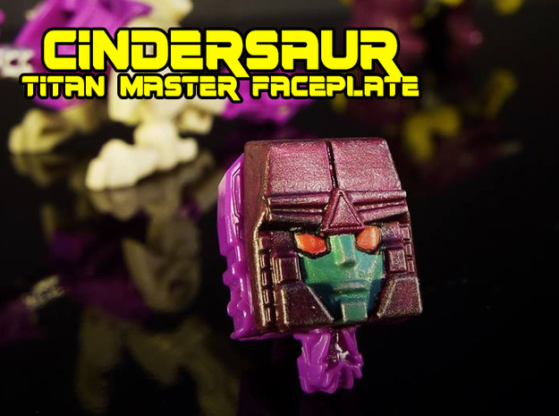 Cindersaur Face (Titans Return) in Black Hi-Def Acrylate
