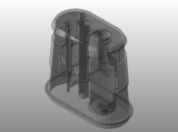 Schoorsteen 3d printed Met binnen werk