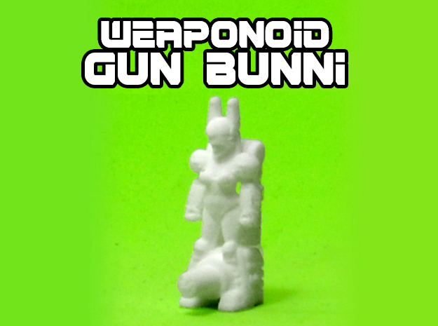 Gun Bunni Transforming Weaponoid Kit (5mm) in White Natural Versatile Plastic
