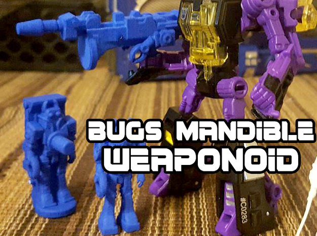 Bugs Mandible Transforming Weaponoid Kit (5mm) in Blue Strong & Flexible Polished