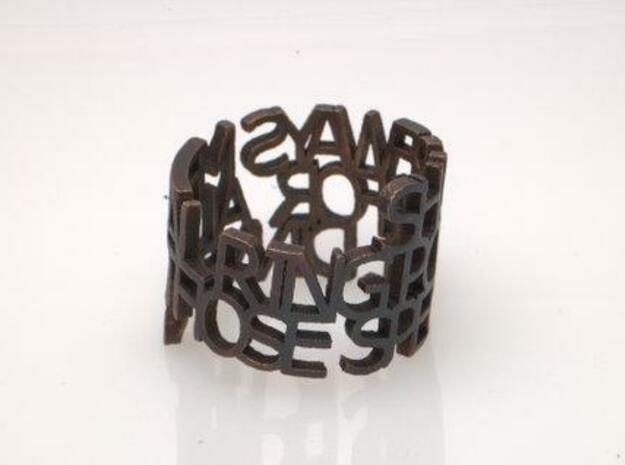 Bronze Ring Poem 3d printed Real nice