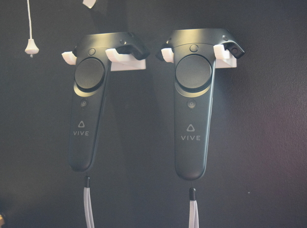3D Vive Hook - Wall Mount in White Natural Versatile Plastic