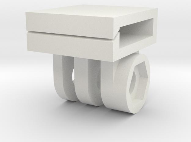 Dog GoPro Mount in White Natural Versatile Plastic